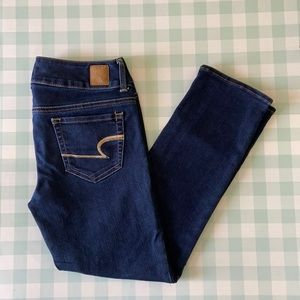 American Eagle Artist ankle cropped jeans size 2
